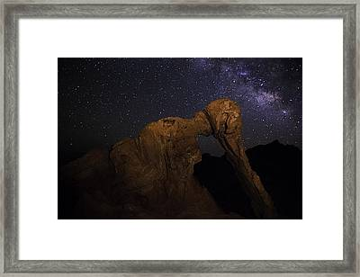 Framed Print featuring the photograph Milky Way Over The Elephant 2 by James Sage