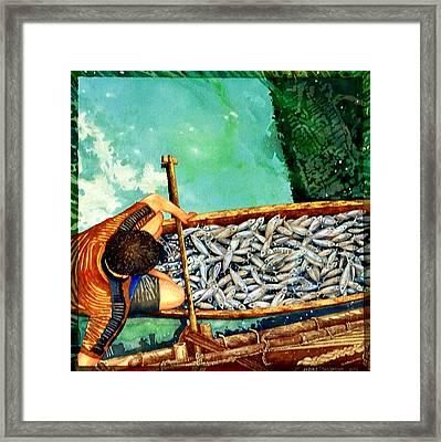 Milkfish Harvest Vers1 Framed Print