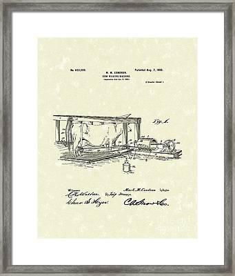 Milking Machine 1900 Patent Art Framed Print by Prior Art Design