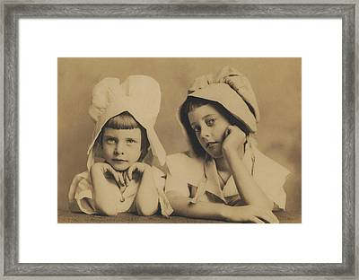 Milkmaid Sisters Framed Print by Paul Ashby Antique Image