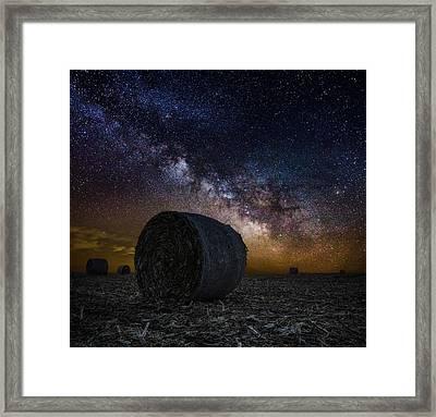 Milky Bales Framed Print