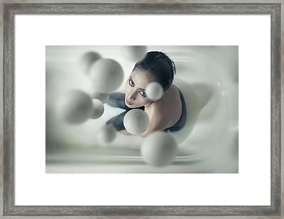 Milky Balls Framed Print