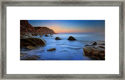 Milky Blue Framed Print by Mark Leader