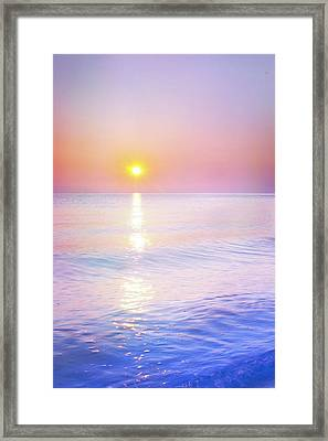 Framed Print featuring the photograph Milky Sunset by Lilia D