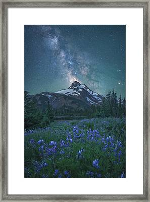 Milky Way Above Mt. Jefferson Framed Print
