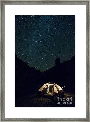 Milky Way And Night Sky Framed Print
