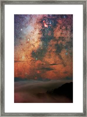 Milky Way And Sagittarius Framed Print by Babak Tafreshi