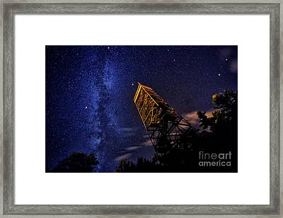 Milky Way And Summer Triangle Framed Print by Charline Xia