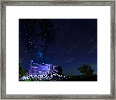 Milky Way And The Big Muskie Bucket Framed Print