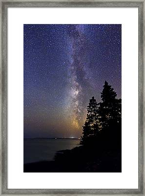 Milky Way At Acadia National Park Framed Print by John Vose