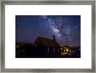 Milky Way At Bodie Framed Print by Cat Connor
