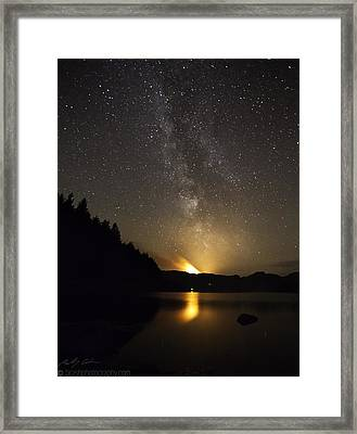 Milky Way At Crafnant 2 Framed Print
