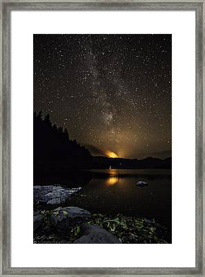 Milky Way At Crafnant Framed Print