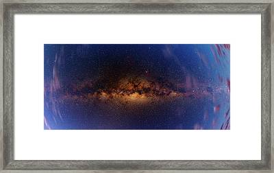 Milky Way At Dawn Framed Print by Babak Tafreshi