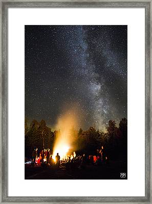 Milky Way At Flagstaff Hut Framed Print