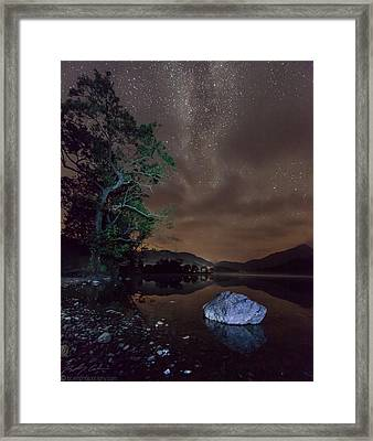 Milky Way At Gwenant Framed Print