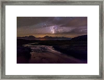 Milky Way At Hot Creek Framed Print