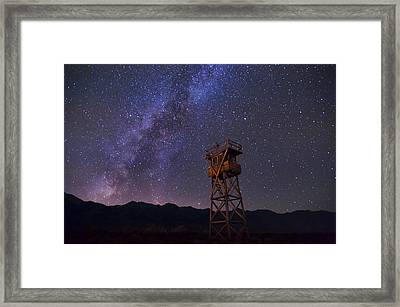 Milky Way At Manzanar Framed Print by Cat Connor