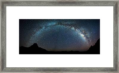 Milky Way Bow Framed Print