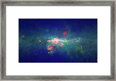 Milky Way Centre Framed Print by Nasa/jpl-caltech