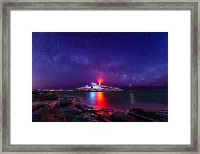 Milky Way Comeback Framed Print by Michael Blanchette