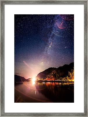 Milky Way Express Framed Print