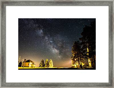 Milky Way From Oldham South Dakota Usa Framed Print