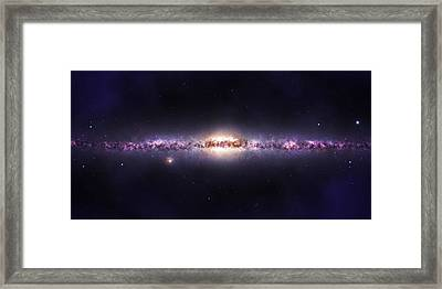 Milky Way Galaxy Framed Print by Celestial Images
