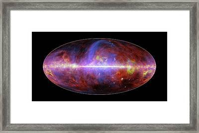 Milky Way Galaxy Framed Print by European Space Agency/nasa/jpl-caltech