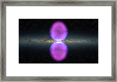 Milky Way Gamma-ray Bubbles Framed Print by Nasa/goddard Space Flight Center