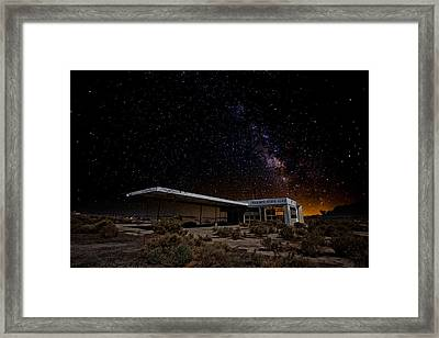 Milky Way Gas Framed Print by Peter Tellone
