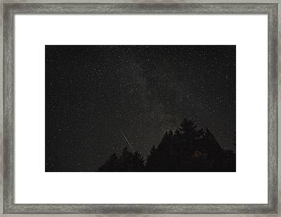Milky Way Meteor Framed Print by Michael Trofimov