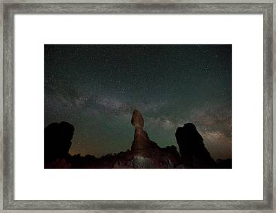Milky Way Night Framed Print by Jeff Lewis