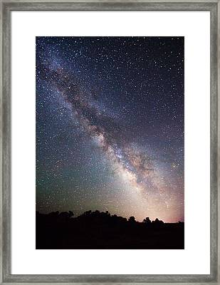 Milky Way On The Rocks Framed Print