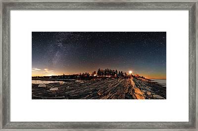 Milky Way Over An Atlantic Coastline Framed Print by Babak Tafreshi