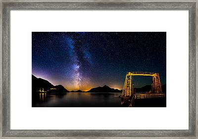 Milky Way Over Anvil Island Framed Print by Alexis Birkill