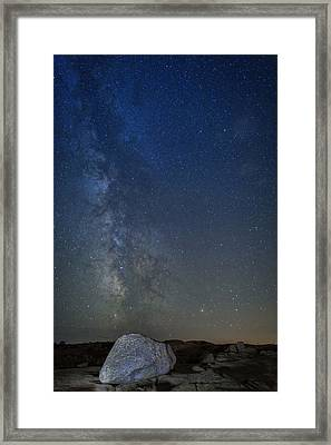 Milky Way Over Cadillac Framed Print by Rick Berk