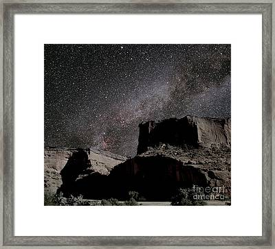 Milky Way Over Canyon Framed Print by Chris Cook