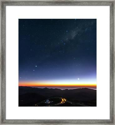 Milky Way Over Cerro Paranal Observatory Framed Print
