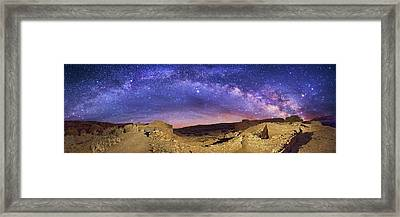 Milky Way Over Chaco Canyon Ruins Framed Print