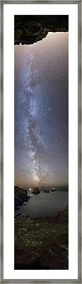 Milky Way Over Coast Framed Print by Laurent Laveder