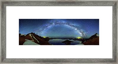 Milky Way Over Crater Lake Framed Print