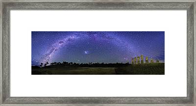 Milky Way Over Easter Island Framed Print by Walter Pacholka, Astropics