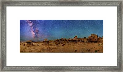 Milky Way Over Goblin Valley Framed Print by Walter Pacholka, Astropics