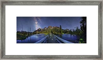 Milky Way Over Grand Teton National Park Framed Print by Walter Pacholka, Astropics