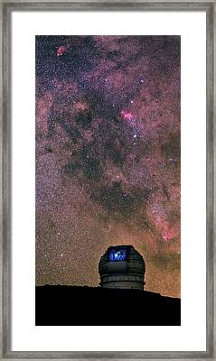Milky Way Over Grantecan Telescope Framed Print by Babak Tafreshi