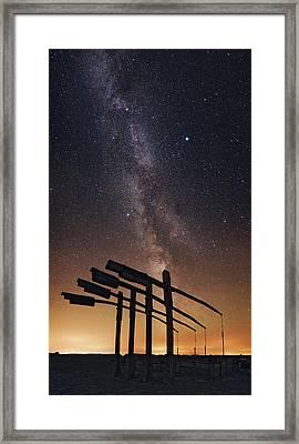 Milky Way Over Hortobagy National Park Framed Print