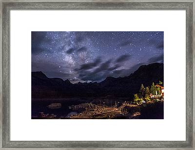 Milky Way Over Lake Sabrina Framed Print by Cat Connor