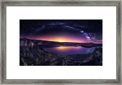 Milky Way Over Las Barrancas 2016 Framed Print