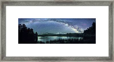 Milky Way Over Manzanita Lake Framed Print